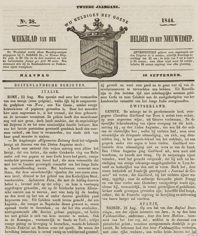 Weekblad van Den Helder en het Nieuwediep 1844-09-16