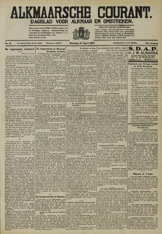 Alkmaarsche Courant 1937-04-27