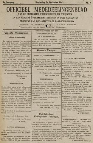 Mededeelingenblad Wieringermeer en Wieringen 1942-12-24
