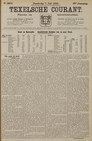 Texelsche Courant 1910-07-07