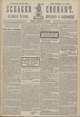 Schager Courant 1920-10-23