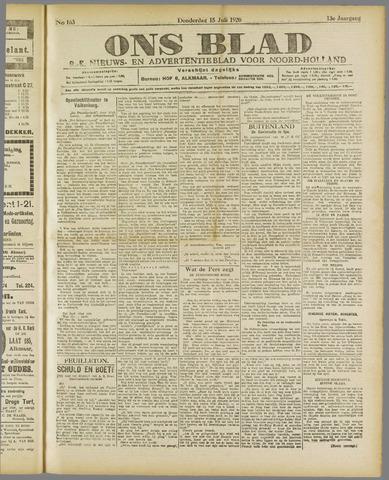 Ons Blad : katholiek nieuwsblad voor N-H 1920-07-15