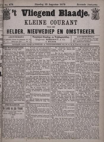 Vliegend blaadje : nieuws- en advertentiebode voor Den Helder 1879-08-19