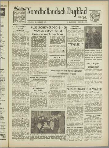 Nieuw Noordhollandsch Dagblad : voor Alkmaar en omgeving 1946-10-28