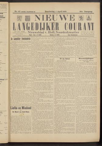 Nieuwe Langedijker Courant 1929-04-04