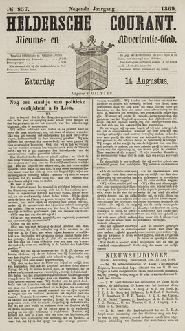 Heldersche Courant 1869-08-14