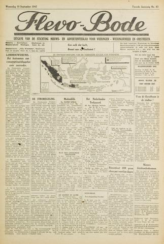 Flevo-bode: nieuwsblad voor Wieringen-Wieringermeer 1947-09-10