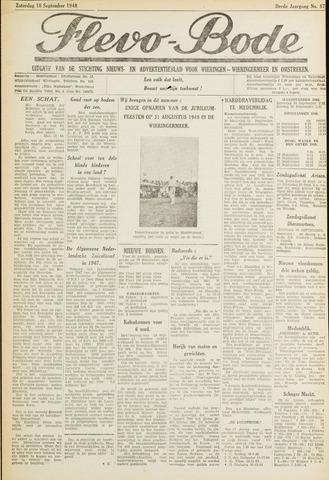 Flevo-bode: nieuwsblad voor Wieringen-Wieringermeer 1948-09-18