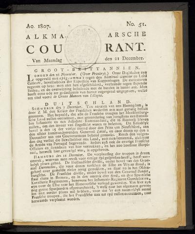 Alkmaarsche Courant 1807-12-21