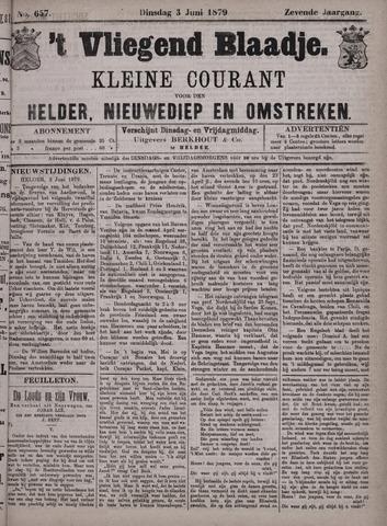 Vliegend blaadje : nieuws- en advertentiebode voor Den Helder 1879-06-03