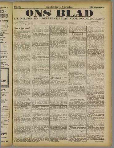 Ons Blad : katholiek nieuwsblad voor N-H 1918-08-01