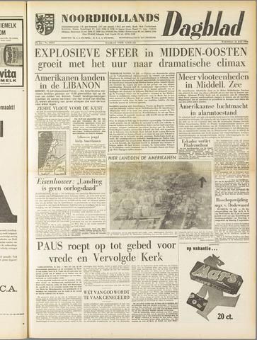Noordhollands Dagblad : dagblad voor Alkmaar en omgeving 1958-07-16