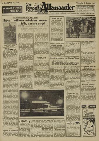 De Vrije Alkmaarder 1949-10-05