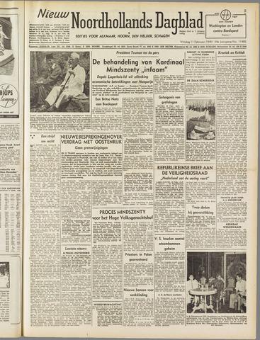 Nieuw Noordhollandsch Dagblad : voor Alkmaar en omgeving 1949-02-11