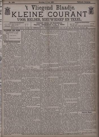 Vliegend blaadje : nieuws- en advertentiebode voor Den Helder 1887-06-11