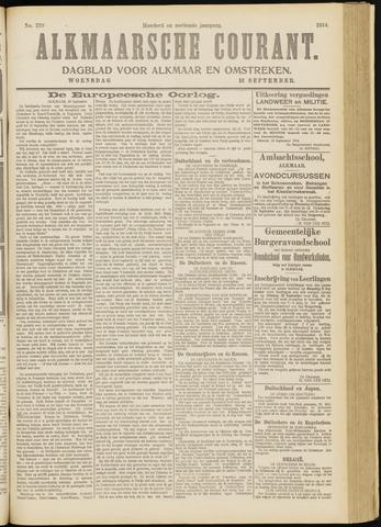 Alkmaarsche Courant 1914-09-16