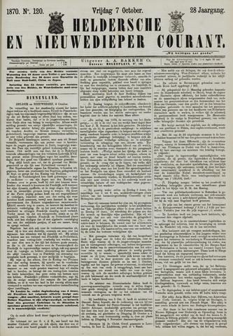 Heldersche en Nieuwedieper Courant 1870-10-07