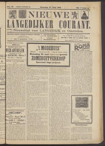 Nieuwe Langedijker Courant 1925-06-27