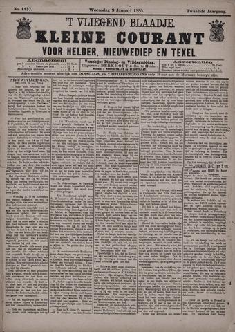 Vliegend blaadje : nieuws- en advertentiebode voor Den Helder 1884-01-09