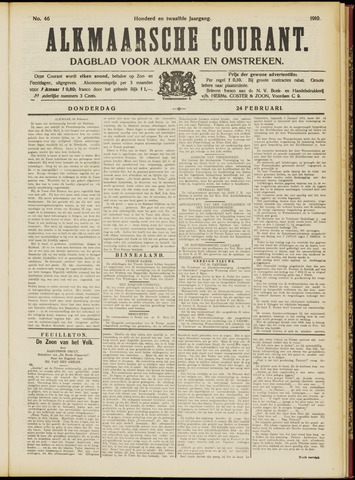 Alkmaarsche Courant 1910-02-24
