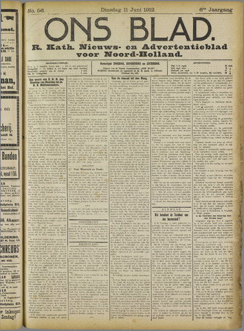 Ons Blad : katholiek nieuwsblad voor N-H 1912-06-11