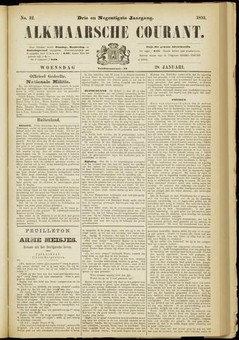 Alkmaarsche Courant 1891-01-28
