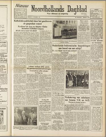 Nieuw Noordhollandsch Dagblad : voor Alkmaar en omgeving 1947-11-03