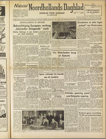 Nieuw Noordhollandsch Dagblad : voor Alkmaar en omgeving 1952-09-03