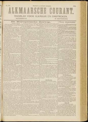 Alkmaarsche Courant 1914-09-10