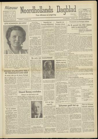Nieuw Noordhollandsch Dagblad : voor Alkmaar en omgeving 1948-09-04