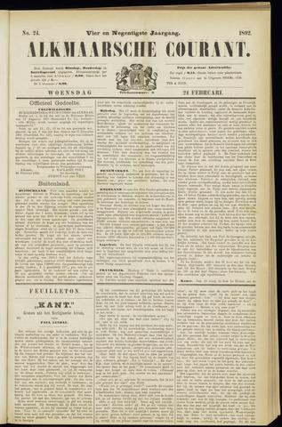 Alkmaarsche Courant 1892-02-24