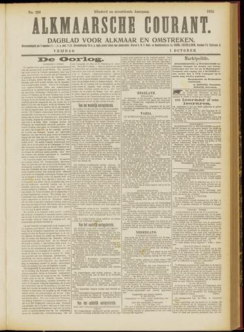Alkmaarsche Courant 1915-10-01