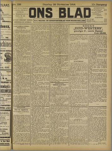 Ons Blad : katholiek nieuwsblad voor N-H 1916-11-28