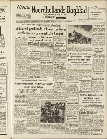 Nieuw Noordhollandsch Dagblad : voor Alkmaar en omgeving 1951-12-19