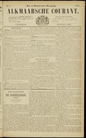 Alkmaarsche Courant 1894-01-12
