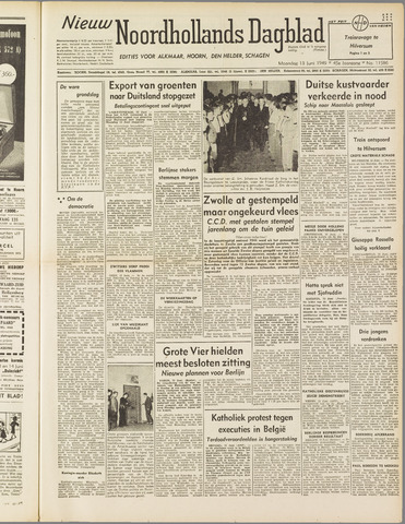Nieuw Noordhollandsch Dagblad : voor Alkmaar en omgeving 1949-06-13
