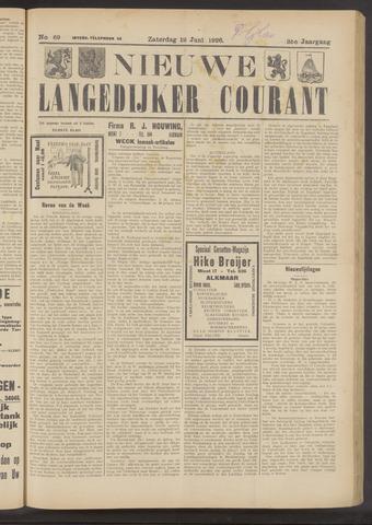 Nieuwe Langedijker Courant 1926-06-12