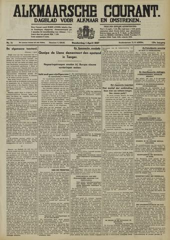 Alkmaarsche Courant 1937-04-01