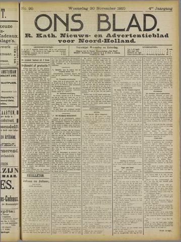 Ons Blad : katholiek nieuwsblad voor N-H 1910-11-30