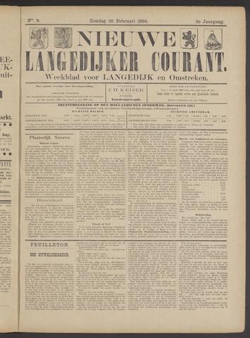 Nieuwe Langedijker Courant 1894-02-25