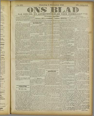 Ons Blad : katholiek nieuwsblad voor N-H 1919-11-03