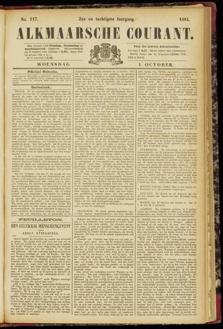 Alkmaarsche Courant 1884-10-01
