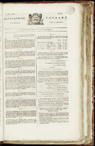 Alkmaarsche Courant 1818-08-10