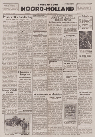 Dagblad Noord-Holland, Schager editie 1943-01-09