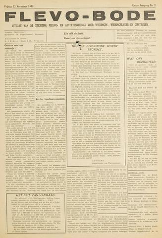 Flevo-bode: nieuwsblad voor Wieringen-Wieringermeer 1945-11-23