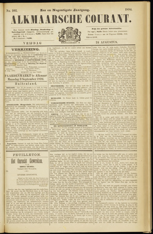Alkmaarsche Courant 1894-08-24