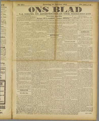 Ons Blad : katholiek nieuwsblad voor N-H 1919-10-25