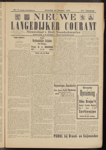 Nieuwe Langedijker Courant 1928-01-28