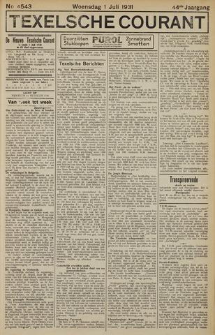 Texelsche Courant 1931-07-01