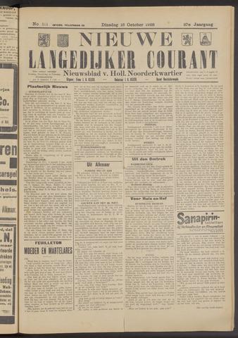 Nieuwe Langedijker Courant 1928-10-16